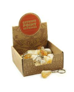 Citrine Heat Treated Point Keyring Retail Box (30 Piece) NETT