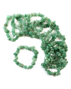 Green Aventurine Chip Bracelet (10pc)