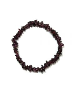 "7.5"" Rhodonite Garnet Chip Bracelet (1pc) NETT"