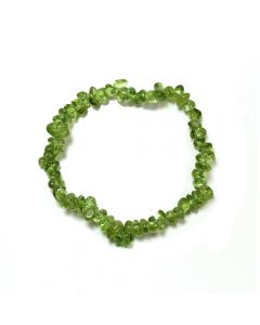 "7.5"" Peridot Chip Bracelet (1pc) NETT"