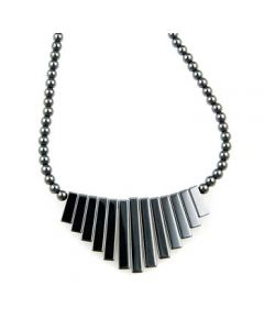 "18"" Hematite Necklace graduated egyptian style (6pcs) NETT"