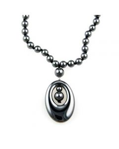 "20"" Hematite Necklace w/Agogo (3pcs)"