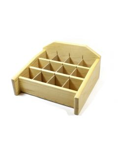 Wood Display Stand 229x241mm (12 compartments) (1pc) NETT