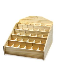 "Wood Display Stand (13x14"")(30 2"" compartments) NETT"