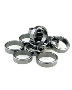 6mm Flat Hematite Finger Ring (10pc)