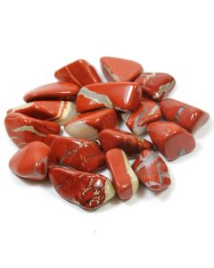 Red/White Jasper 30-40mm Large (SA Shape) Tumblestone (250g) NETT
