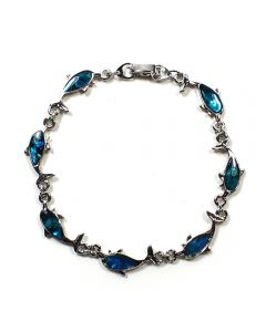 Bracelet Blue Ab. Dolphin ECND (12pcs) NETT