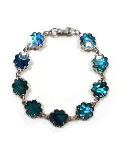 Bracelet Blue Ab. Flower ECND (12pcs) NETT