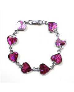 Bracelet Pink.Ab. Heart ECND (12pc) NETT