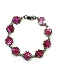 Bracelet Pink Abalone Flower ECND (12 Pieces) NETT