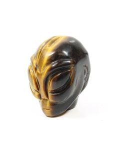 """2"""" Alien Skull Carving Tiger Eye (1 Piece) NETT"""