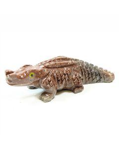 65mm Soapstone Crocodile (1pc)
