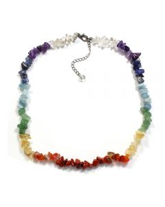 "18"" Chip Chakra 8 colour Necklace + ext chain NETT"