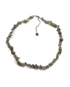 "18"" Chip Labradorite AA Necklace + Ext Chain (1pc) NETT"