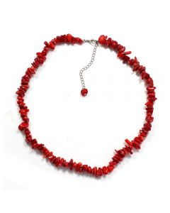 """18"""" Sea Bamboo (Coral) Chip Necklace & Ext Chain (1pc) NETT"""