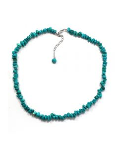 """18"""" Turquoise Chip Necklace & Ext Chain, China (1pc) NETT"""