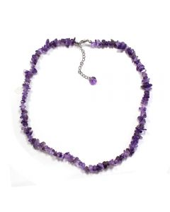 """18"""" Chip Amethyst A Necklace + Ext Chain (1pc) NETT"""