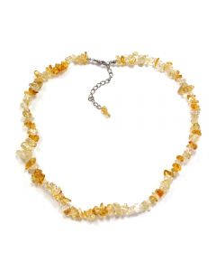 "18"" Chip Citrine Heat Treated A Necklace + Extension Chain (1 Piece) NETT"