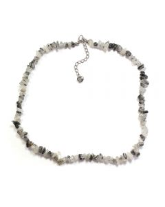 "18"" Chip Rutilated Quartz Necklace + Extension Chain (1 Piece) NETT"