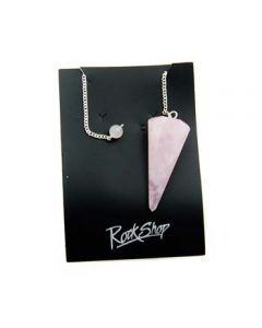 "Pendulum Rose Quartz with 6"" Chain (3 Pieces) NETT"