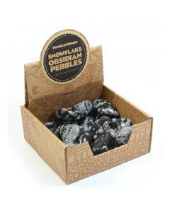Snowflake Obsidian Large Tumblestone Retail Box (25pcs) NETT