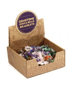 Gemstone Chip & Bead Bracelet Retail Box (20pc) NETT