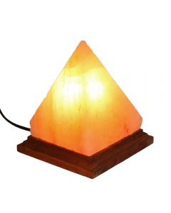 "Pyramid Salt Lamp 5x5x6"" (Including Electrics) (1 Piece) NETT"