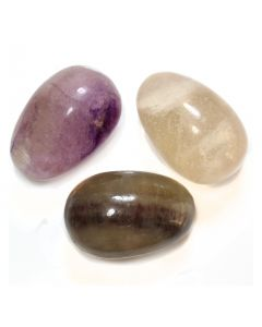 Gemstone Egg 30x45mm Fluorite (WAS £10.5 NOW £5.25)NETT