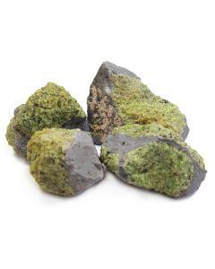 "Peridot in Basalt (3-6"") USA (1kg)"