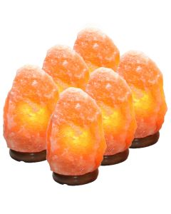 Himalayan Salt Lamp 2-3kg (6pcs) (Includes Electric Leads) NETT