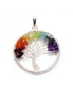 Tree of Life Pendant Chakra Silver Plated (1 Piece) NETT