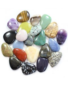 Mixed Gemstone Smooth Stones (50 Pieces) NETT