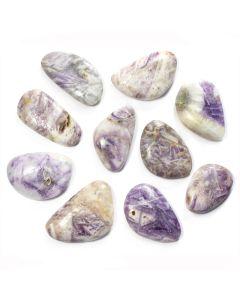 """Flower Fluorite Smooth Stone 1-2"""" (10 Piece)"""