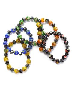 Magnetic Hematine & 10mm Venetian Glass Bracelet (1pc) (Was £2.90 Now £1.45) NETT