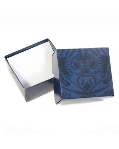 Medium Blue Printed Gift/Jewellery Box (10pcs)  (Was  £0.65 Now £0.325 NETT)