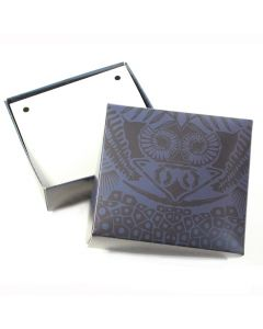 Large Blue Printed Gift/Jewellery (10pcs) (Was  £0.85 Now £0.425 NETT)