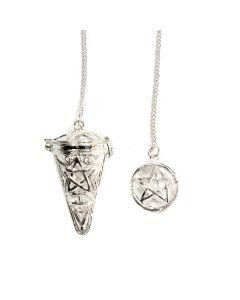 Pentacle Pendulum Keepsake/Stone Locket SP (1pc) NETT