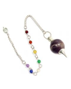 Amethyst Bead Chakra Pendulum SP (1pc) NETT