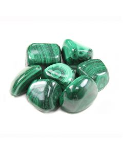 Malachite (100g) 20-30mm Medium (SA Shape) tumblestone