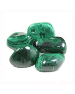 Malachite (100g) 30-40mm Ex large (SA Shape) Tumblestone