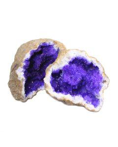 "Purple Quartz Geode 4-5"" (1pc) NETT"