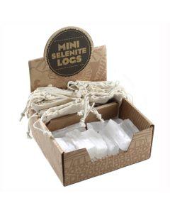 Mining Mike's Mini Selenite Logs Retail Box (20pcs) NETT
