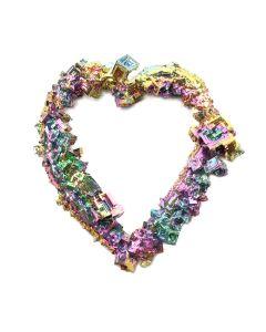 """Bismuth Heart 4-5"""" (1pc)  (WAS £23 NOW £11.5)NETT"""