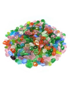 Jelly Bean Cats Eye Synthetic 10-15mm Tumblestone (1kg) NETT
