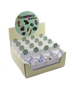 Assorted Gemstone Pendants on Thong (48pcs) NETT