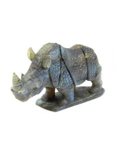 """Labradorite Rhino Carving with Base (3x1.5x3"""") (1 Piece) SPECIAL"""