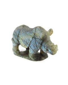 "Labradorite Rhino Carving with Base (3.5x2.25"") (1 Piece) SPECIAL"