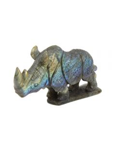 """Labradorite Rhino Carving with base (3x1x3"""") (1 Piece) SPECIAL"""