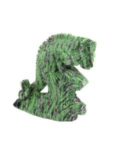 "Ruby Zoisite Lizard Carving (3.5x1.25x4"") (1 Piece) SPECIAL"