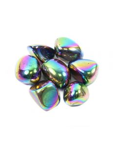 Titanium Aura 20-30mm Medium Tumblestone (100g) NETT